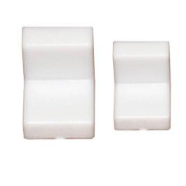 Мебельный уголок GRANDIS металлический с заглушкой: белый