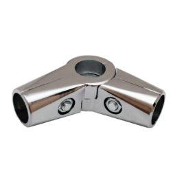 Соединитель 3-х труб GT 15 (R-43) CHROME угловой