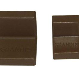 Мебельный уголок GRANDIS металлический с заглушкой: орех