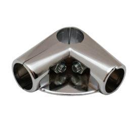 Угловой соединитель 3-х труб GT 6 CHROME с держ.