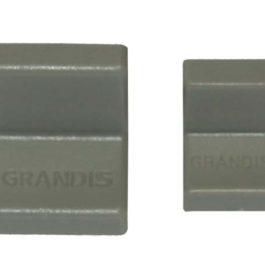 Мебельный уголок GRANDIS металлический с заглушкой: серый