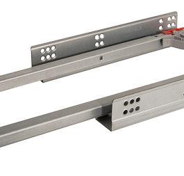 Направляющие скрытого монтажа, полное выдвижение с быстросъемным фиксатором к ящику , для панелей 16-19 мм 300 мм